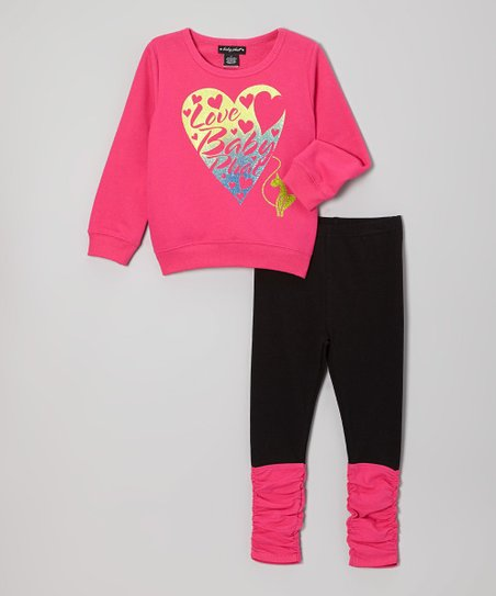 Berry Flash Dance Sweatshirt & Leggings - Infant, Toddler & Girls