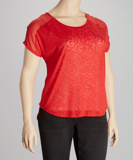 Punch Paisley Burnout Top - Plus
