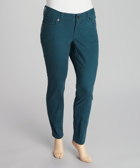 Teal Skinny Pants - Plus
