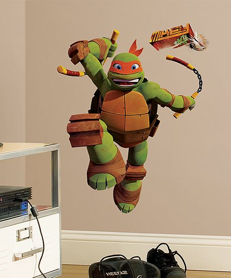 TMNT Michelangelo Peel & Stick Giant Wall Decal