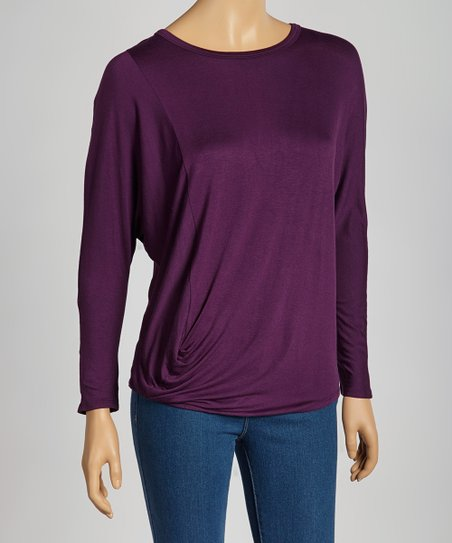 Plum Dolman Top