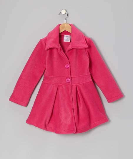 Pink Button Coat - Infant, Toddler & Girls