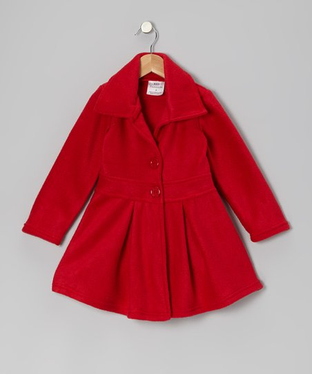 Red Button Coat – Infant, Toddler & Girls