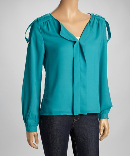 Jade Placket Top