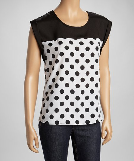 Black & White Polka Dot Top