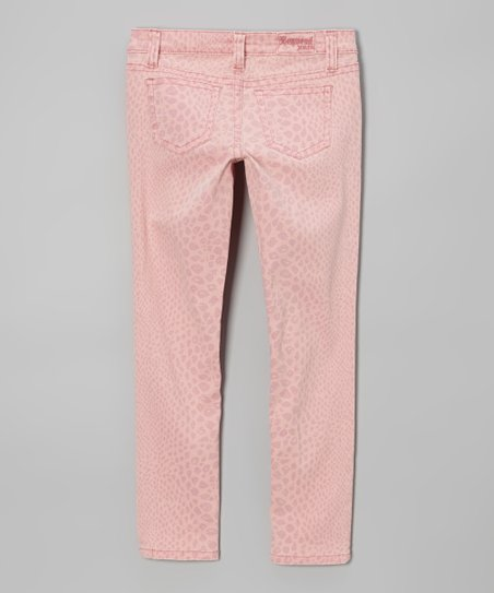 Blossom Faded Reptile Pants - Girls