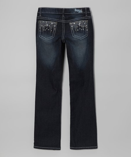Gibson Wash Straight-Leg Jeans - Girls