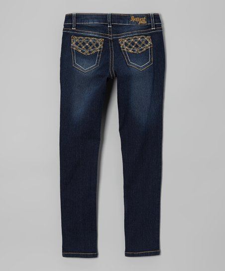 Hampton Wash Straight-Leg Jeans - Girls