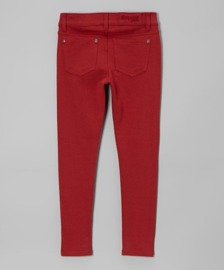 Red Jeggings - Girls