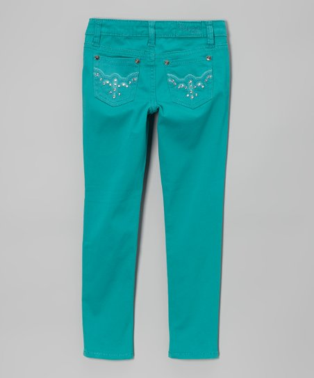 Dark Lagoon Twill Pants - Girls