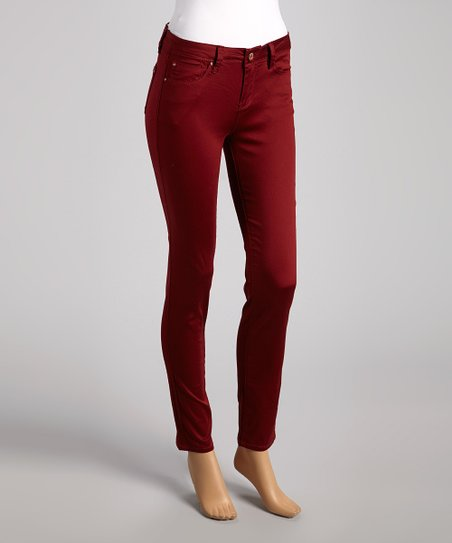 Oxblood Skinny Pants