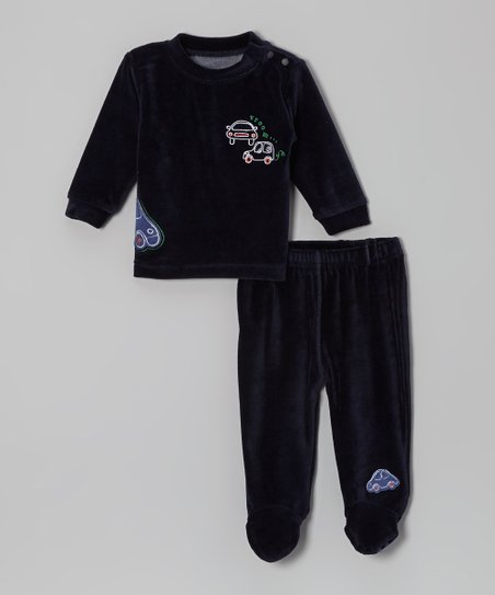 Navy Cars Top & Footie Pants - Infant