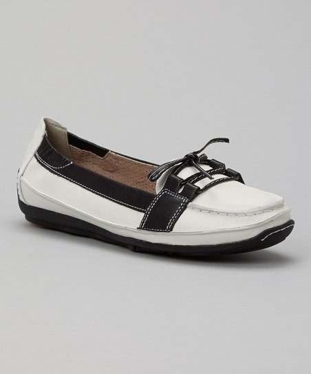White & Black Mare Moccasin
