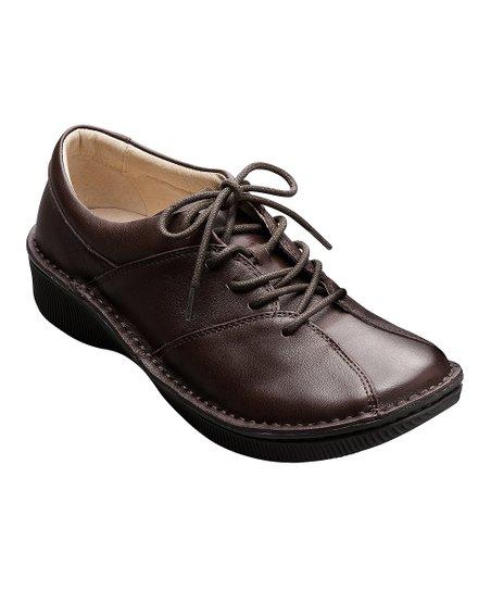 Dark Brown Leather Aki Shoe