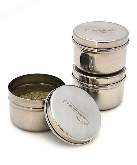 Stainless Steel Mini Container - Set of Three