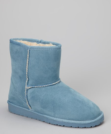 Blue Microfiber SheepDawgs Ankle Boot