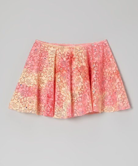 Pink Lace Sequin Circle Skirt - Toddler & Girls