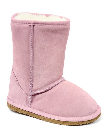 Pink Fleece Boot - Kids