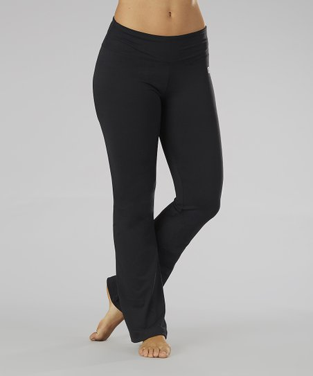 Black Straight Yoga Pants