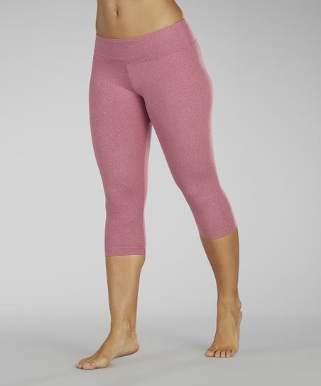 Heather Wild Berry Capri Leggings