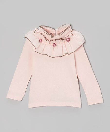 Pink Ruffle Collar Top - Toddler & Girls