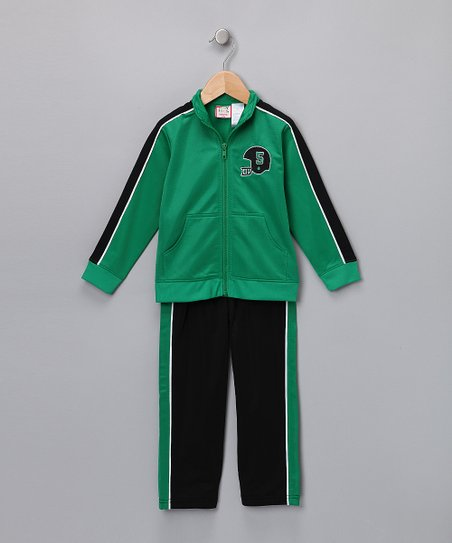 Green Track Jacket & Pants
