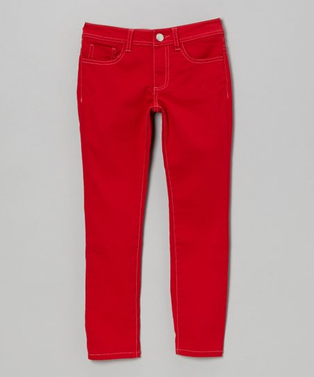 Red Skinny Jeans - Girls