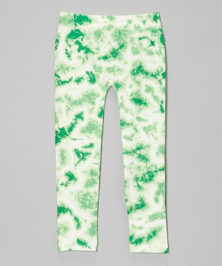 Mint Green Tie-Dye Leggings