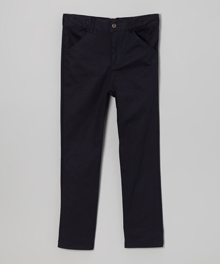 Navy Twill Pants - Infant, Toddler & Boys