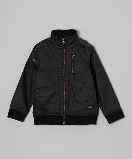 Black Bunker Jacket - Toddler & Boys