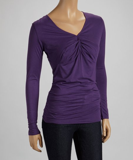 Amethyst Ruched Top