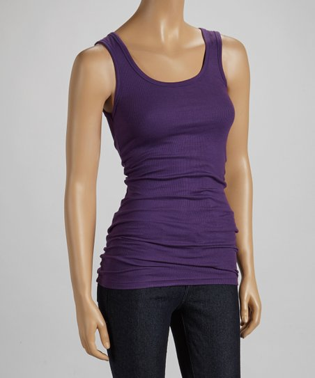 Amethyst Long Ribbed Layering Tank