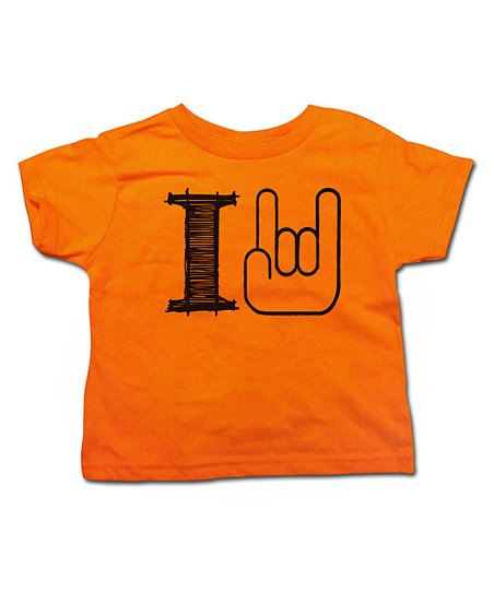 Orange 'I Rock' Tee - Toddler & Kids
