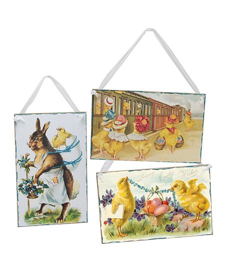 Large Easter Postcard Wall Art Set