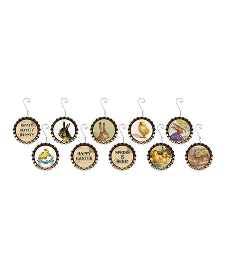 Easter Bottle Cap Ornament Set