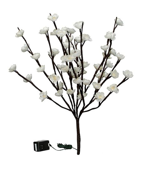 White 39'' Cherry Blossom Twig Light