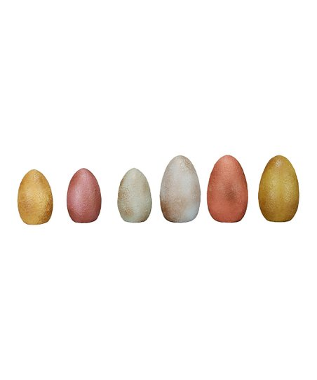 Large Textured Decorative Egg Set