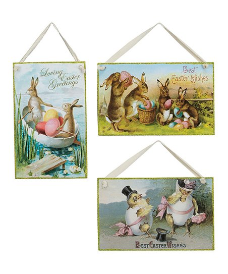 Easter Vintage Postcard Wall Art Set