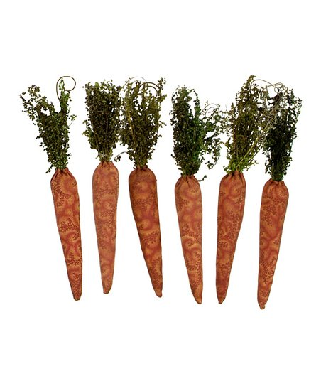 Fabric Carrot Ornament - Set of Six