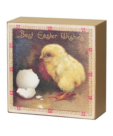 Easter Chick Vintage Box Sign