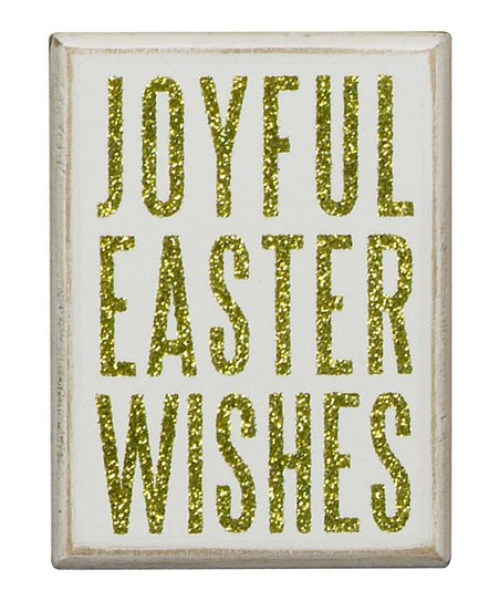 'Joyful Easter' Box Sign
