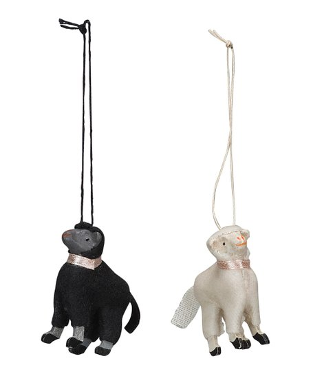 Spring Sheep Vintage Ornament Set