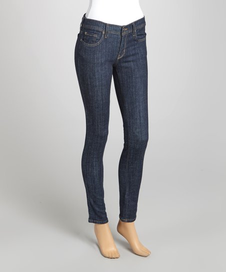 Dark Blue Slim-Fit Jeans
