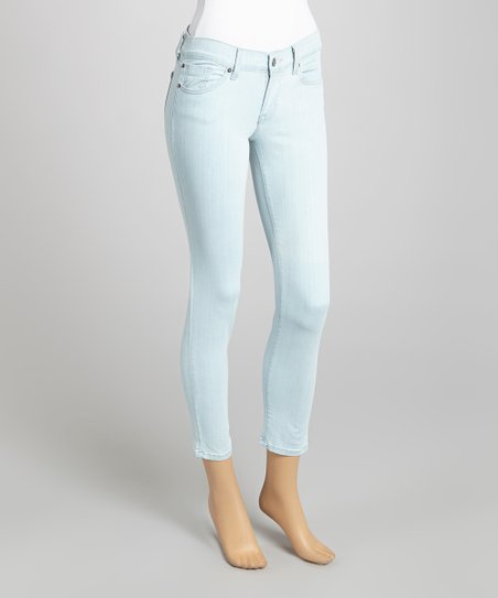 Light Blue Five-Pocket Slim-Fit Jeans