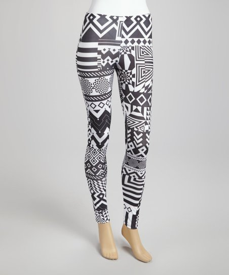 Black & White Geometric Leggings