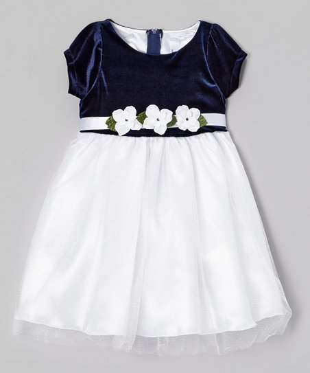 Navy & White Tulle Mimi Dress - Infant, Toddler & Girls