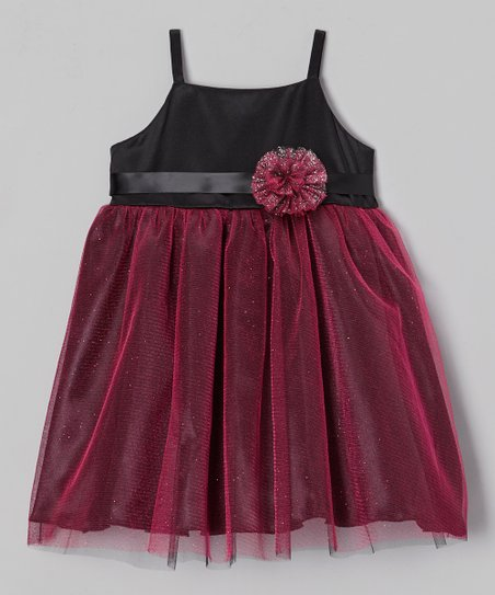 Black & Fuchsia Bianca Dress - Infant, Toddler & Girls
