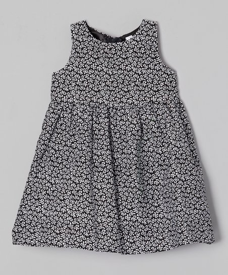 Black & White Bow Eden Dress - Toddler & Girls