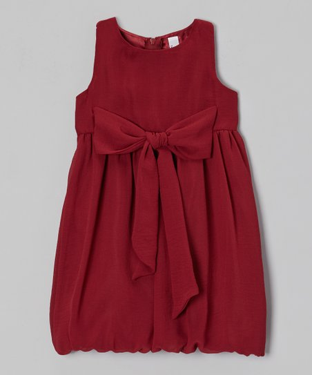 Ruby Bow Rachel Bubble Dress - Toddler & Girls
