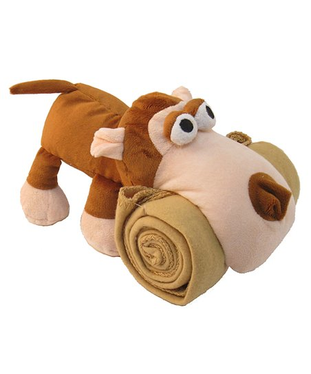 Brown Monkey Plush Toy & Blanket